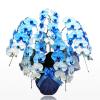 青い胡蝶蘭を青が好きなあの人にお祝いで贈る。